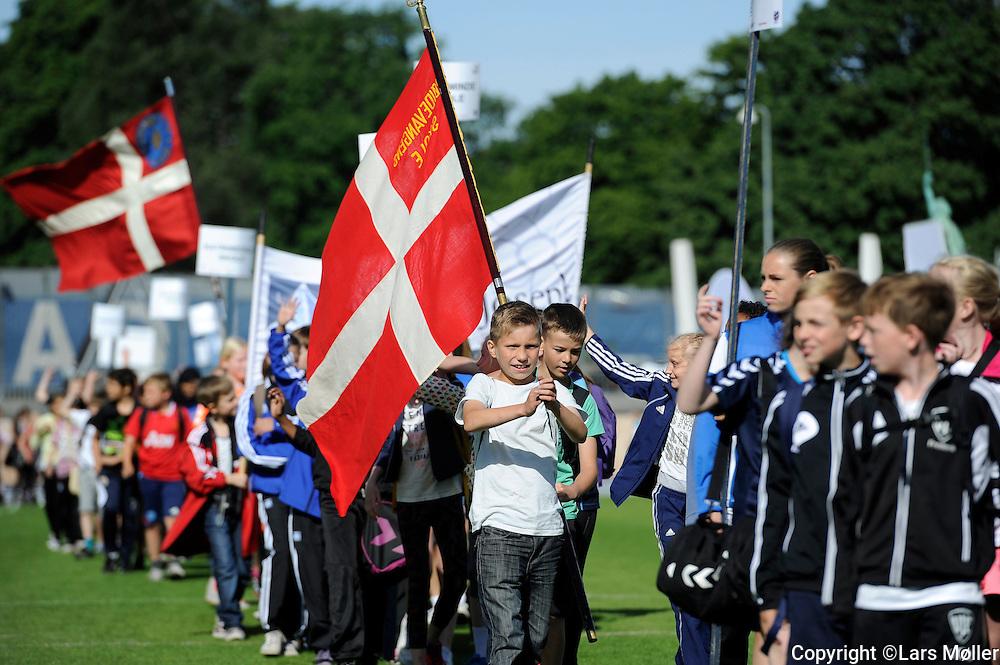 DK Caption:<br /> 20140617, K&oslash;benhavn, Danmark:<br /> Skole OL finale 2014 &aring;bningsceremoni<br /> Foto: Lars M&oslash;ller<br /> UK Caption:<br /> 20140617, Copenhagen, Denmark:<br /> School Olympics 2014 opening ceremony<br /> Photo: Lars Moeller