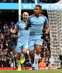 Gabriel Jesus of Manchester City celebrates after scoring his sides second goal  - Mandatory by-line: Matt McNulty/JMP - 05/02/2017 - FOOTBALL - Etihad Stadium - Manchester, England - Manchester City v Swansea City - Premier League