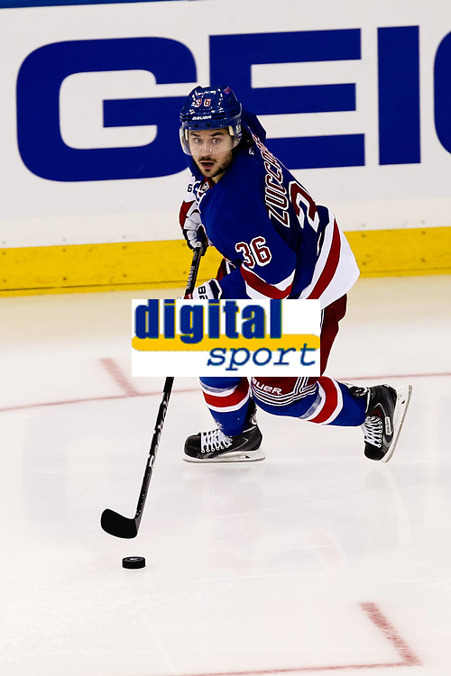 Ishockey<br /> NHL<br /> Foto: imago/Digitalsport<br /> NORWAY ONLY<br /> <br /> October 16, 2014: New York Rangers Right Wing Mats Zuccarello Aasen (36) during a regular season NHL game between the Carolina Hurricanes and the New York Rangers at Madison Square Garden in New York, NY.