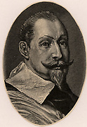 Gustavus Adolphus (1594-1632) King of Sweden from 1611.  In Thirty Years War (1618-1648) intervened on behalf of Protestants against Catholic League.  Fatally wounded at Lutzen. Engraving.