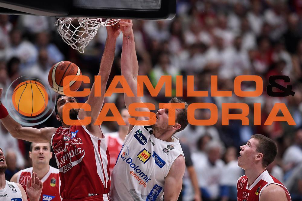 Luca Lechthaler<br /> EA7 Emporio Armani Olimpia Milano - Dolomiti Energia Aquila Basket Trento<br /> Lega Basket Serie A, Semifinali Playoff 2016/2017<br /> Milano, 25/05/2017<br /> Foto Ciamillo-Castoria