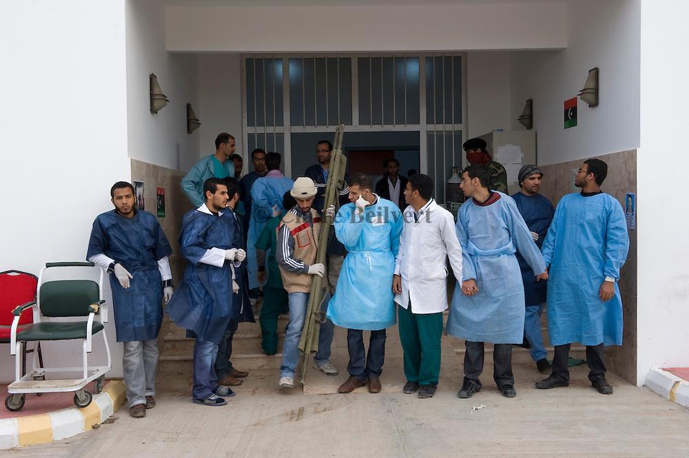 Doctors at Brega's hospital
