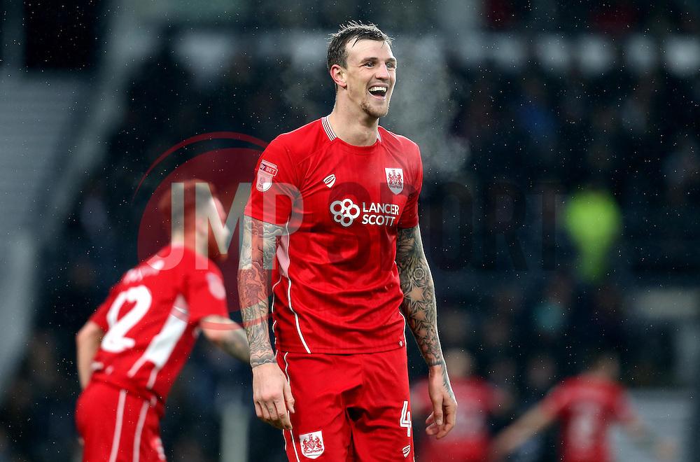 Aden Flint of Bristol City - Mandatory by-line: Robbie Stephenson/JMP - 11/02/2017 - FOOTBALL - iPro Stadium - Derby, England - Derby County v Bristol City - Sky Bet Championship