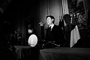 Giuseppe Conte, Italy's new prime minister designate, speaks to the press to present his ministers list after meeting Italian President Sergio Mattarella on May 31, 2018 in Rome, Italy.  Christian Mantuano / OneShot