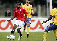 Fotball<br /> Landskamp G15<br /> Sverige v Norge 0:3<br /> Arvika<br /> 23.09.2010<br /> Foto: Morten Olsen, Digitalsport<br /> <br /> Dursa Mohammed Ahmed  -  Viking