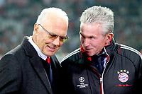 Franz Beckenbauer (Bayern) mit Jupp Heynckes (Trainer Bayern)<br /> 02.11.2011, Allianz Arena<br /> FC Bayern Monaco Vs Napoli<br /> Champions League<br /> Foto Insidefoto / Straubmeier