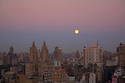 Moonrise over Manhattan viewed from 240 Riverside Boulevard