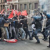 Manifestazione contro il Governo Renzi