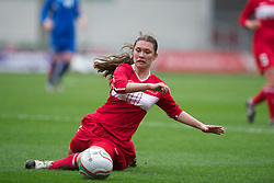 LLANELLI, WALES - Thursday, March 31, 2011: Turkey's Gizem Go?nu?ltas in action against Iceland during the UEFA European Women's Under-19 Championship Second Qualifying Round (Group 3) match at Parc Y Scarlets. (Photo by David Rawcliffe/Propaganda)