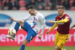 23.04.2016, Voith Arena, Heidenheim, GER, 2. FBL, 1. FC Heidenheim vs SC Paderborn 07, 31. Runde, im Bild Daniel Frahn ( 1.FC Heidenheim ) links am Ball. Rechts Florian Hartherz( SC Paderborn 07 ) // during the 2nd German Bundesliga 31th round match between 1. FC Heidenheim vs SC Paderborn 07 at the Voith Arena in Heidenheim, Germany on 2016/04/23. EXPA Pictures &copy; 2016, PhotoCredit: EXPA/ Eibner-Pressefoto/ Bozler<br /> <br /> *****ATTENTION - OUT of GER*****