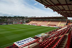 EXETER, ENGLAND - Wednesday, August 24, 2011: A general view of St James Park before the Football League Cup 2nd Round match between Exeter City and Liverpool. (Pic by David Rawcliffe/Propaganda)