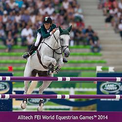 Bertram Allen, (IRL), Molly Malone V - World Champions, - Second Round Team Competition - Alltech FEI World Equestrian Games™ 2014 - Normandy, France.<br /> © Hippo Foto Team - Leanjo De Koster<br /> 25/06/14