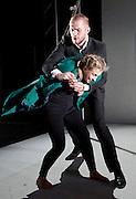 Burning Doors<br /> Belarus Free Theatre at The Soho Theatre, London, Great Britain <br /> press photocall <br /> 1st September 2016 <br /> <br /> Maria Alyokhina<br /> <br /> <br /> Kiryl Kanstantsinau<br /> <br /> <br /> <br /> Photograph by Elliott Franks <br /> Image licensed to Elliott Franks Photography Services