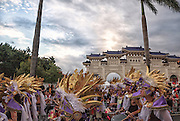 The Dream Parade begins in front of Chiang Kai-shek Memorial Hall in Taipei