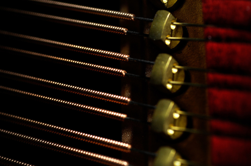 Kelowna, BC - 08/02/09 -   Piano strings. Photo by Daniel Hayduk