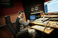 """December 09, 2011 Cairo. Egypt. mr. KC producer. He makes Beats for Arabian Knightz and other International hiphop artists all over the world. He works """"by day"""" in a five stars hotel and """"by night"""" he is a  famous producer."""