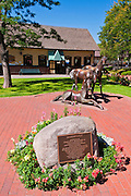Bronze horse statue at Bradshaw Circle, Durango, Colorado