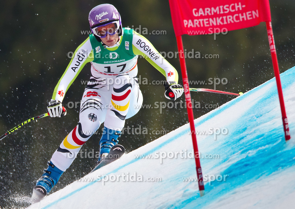 13.02.2011, Kandahar, Garmisch Partenkirchen, GER, FIS Alpin Ski WM 2011, GAP, Damen, Abfahrt, im Bild dritte, bronze Medaille Maria Riesch (GER) // third, bronze Medal Maria Riesch (GER) during Downhill Ladies Fis Alpine Ski World Championships in Garmisch Partenkirchen, Germany on 13/2/2011. EXPA Pictures © 2011, PhotoCredit: EXPA/ J. Groder