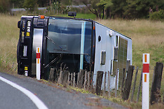 Auckland-Camper bus rolls near Silverdale