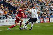 Tomas Kalas & Greg Cunningham during the Sky Bet Championship match between Preston North End and Middlesbrough at Deepdale, Preston, England on 9 August 2015. Photo by Simon Davies.