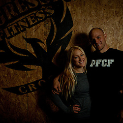 Jaelyn Wolf and Chris Hoppe, Owners and trainers, Crossfit image, picture, photo, photography of health, elite, exercise, training, workouts, WODs, taken at Progressive Fitness CrossFit,Colorado Springs, Colorado, USA.