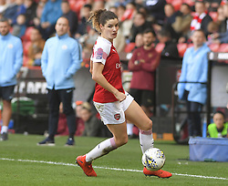 February 23, 2019 - Sheffield, England, United Kingdom - Dominique Bloodworth (Arsenal) looks for the next pass        during the  FA Women's Continental League Cup Final  between Arsenal and Manchester City Women at the Bramall Lane Football Ground, Sheffield United FC Sheffield, Saturday 23rd February. (Credit Image: © Action Foto Sport/NurPhoto via ZUMA Press)