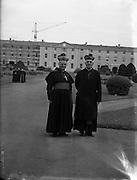 Bishops October Meeting at Maynooth.09/10/1956..Dr Farren, Bishop of Derry (left).09/10/1956
