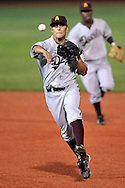 MANHATTAN, KS - MAY 06:  MANHATTAN, KS - May 06:  Second basemen Raoul Torrez #29 of the Arizona State Sun Devils throws the ball to first base for the final out in the eigth inning against the Kansas State Wildcats on May 06, 2008 at Tointon Stadium in Manhattan, Kansas.  Kansas State defeated Arizona State 7-6.  (Photo by Peter Aiken/Getty Images) *** Local Caption *** Raoul Torrez