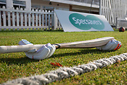 Early morning scene before the Specsavers County Champ Div 2 match between Leicestershire County Cricket Club and Lancashire County Cricket Club at the Fischer County Ground, Grace Road, Leicester, United Kingdom on 23 September 2019.