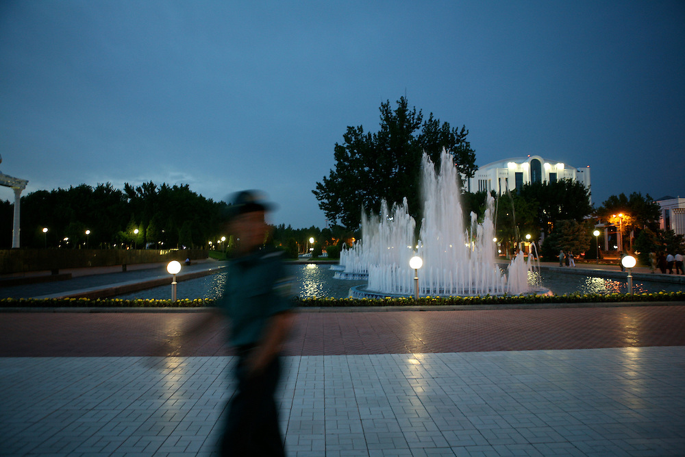 In Tashkent city centre at night