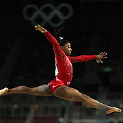 Gymnastics - Olympics: Day 10   Simone Biles #391 of the United States performing her routine in the Women's Balance Beam Final during the Artistic Gymnastics competition at the Rio Olympic Arena on August 15, 2016 in Rio de Janeiro, Brazil. (Photo by Tim Clayton/Corbis via Getty Images)