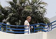 PIXIE LOTT IN BALCONY HOTEL MARTINEZ IN CANNES<br /> ©Exclusivepix Media