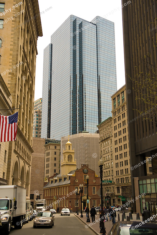 Old State House surrounded by Modern Buildings
