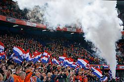10-10-2019 NED: Netherlands - Northern Ireland, Rotterdam<br /> UEFA Qualifying round Group C match between Netherlands and Northern Ireland at De Kuip in Rotterdam / Orange support fan