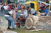 "The ""hot saws"" are always a big crowd pleaser. A V-8 on a chainsaw? Because we can ..."