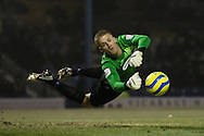 Picture by David Horn/Focus Images Ltd +44 7545 970036.11/12/2012.Daniel Bentley of Southend United saves during The FA Cup match at Roots Hall, Southend.