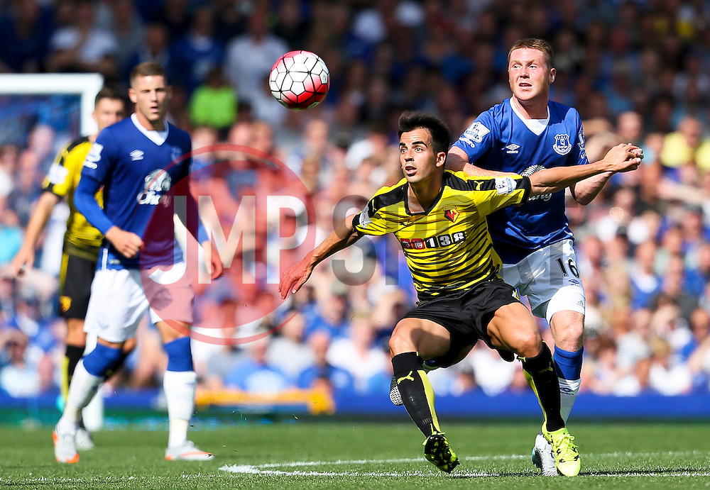 Watford's Jose Manuel Jurado is closed down by Everton's James McCarthy  - Mandatory byline: Matt McNulty/JMP - 07966386802 - 08/08/2015 - FOOTBALL - Goodison Park -Liverpool,England - Everton v Watford - Barclays Premier League