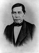 Benito Pablo Juarez Garcia (1806-1872) native Mexican (Zapotec Amerindian) lawyer and liberal politician who served five terms as President of Mexico 1858-1872. Died of a heart attack while still in office.