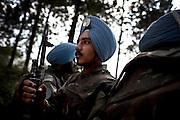 MONUC peacekeeping troops patrol a buffer zone near the border with Rwanda, North Kivu, DRC, on Tuesday, Jan. 29, 2008..