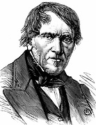 Antoine Cesar Becquerel (1788-1878) French physicist; electrolysis for separating metals from ores; father of AE Becquerel. Grandfather of A.H. Becquerel. Wood engraving 1878
