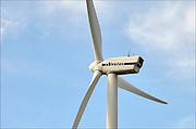 Nederland, Eemshaven, 15-4-2015Windmolens in het havengebied. Naast een windmolenpark is hier ook industrie gerelateerd aan windenergie. VestasFOTO: FLIP FRANSSEN/ HOLLANDSE HOOGTE