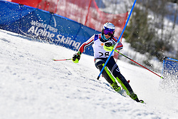 WALSH Thomas C, LW4, USA, Slalom at the WPAS_2019 Alpine Skiing World Cup Finals, Morzine, France