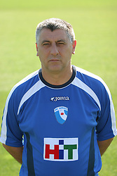 Pavel Pinni, head coach of football club NK HIT Gorica during practice session before new season, on September 2, 2004, in Sports park Nova Gorica, Slovenia. (Photo By Vid Ponikvar / Sportida.com)
