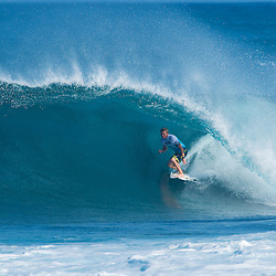 Dusty Payne in the Billabong Pipeline Masters 2010.