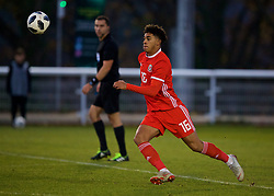 BANGOR, WALES - Saturday, November 17, 2018: Wales' Christian Norton during the UEFA Under-19 Championship 2019 Qualifying Group 4 match between Sweden and Wales at the Nantporth Stadium. (Pic by Paul Greenwood/Propaganda)