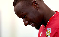 Famara Dieddiou of Bristol City smiles as takes part in fitness tests on his first day of training since signing from Angers SCO - Mandatory by-line: Robbie Stephenson/JMP - 10/07/2017 - FOOTBALL - Failand Training Ground - Bristol, United Kingdom - Bristol City Preseason Training