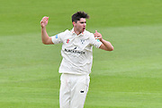 Josh Tongue of Worcestershire during the Specsavers County Champ Div 1 match between Hampshire County Cricket Club and Worcestershire County Cricket Club at the Ageas Bowl, Southampton, United Kingdom on 13 April 2018. Picture by Graham Hunt.
