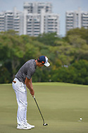 Cheng JIN (CHN) barely misses his putt on 18 during Rd 3 of the Asia-Pacific Amateur Championship, Sentosa Golf Club, Singapore. 10/6/2018.<br /> Picture: Golffile | Ken Murray<br /> <br /> <br /> All photo usage must carry mandatory copyright credit (© Golffile | Ken Murray)