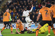 Fikayo Tomori (29) of Chelsea FC effort on goal is blocked during the The FA Cup match between Hull City and Chelsea at the KCOM Stadium, Kingston upon Hull, England on 25 January 2020.