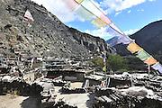 Asia, Nepal, Buddhist prayerflags